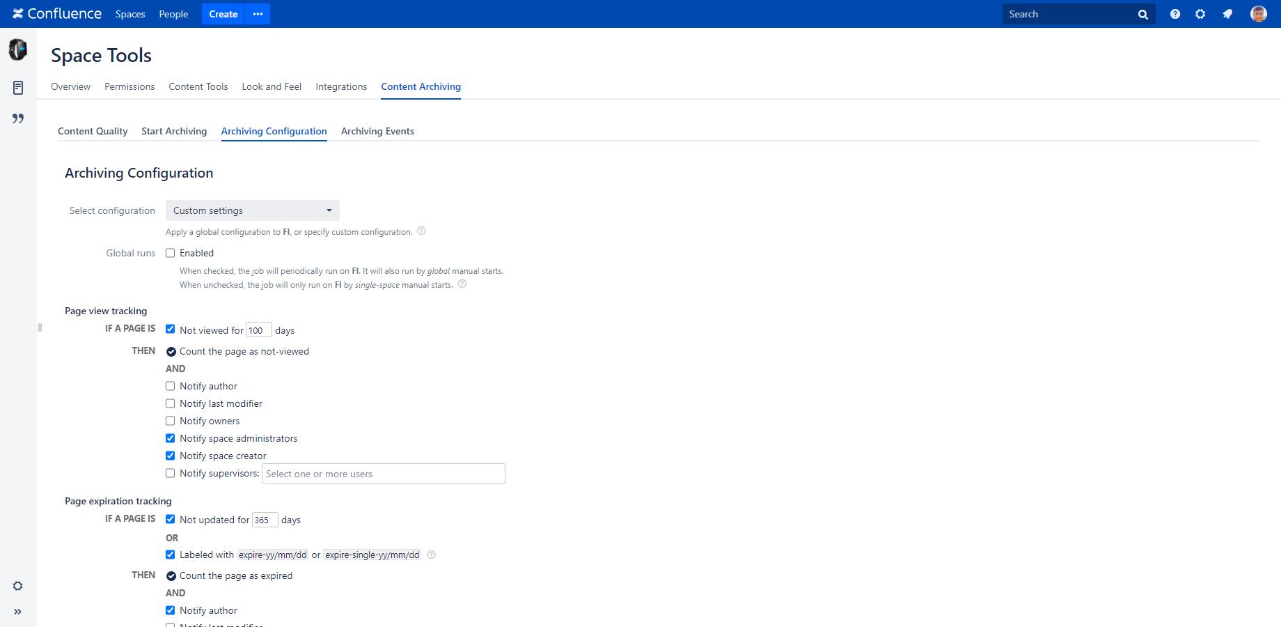User Manual - Archiving Plugin for Confluence | Midori