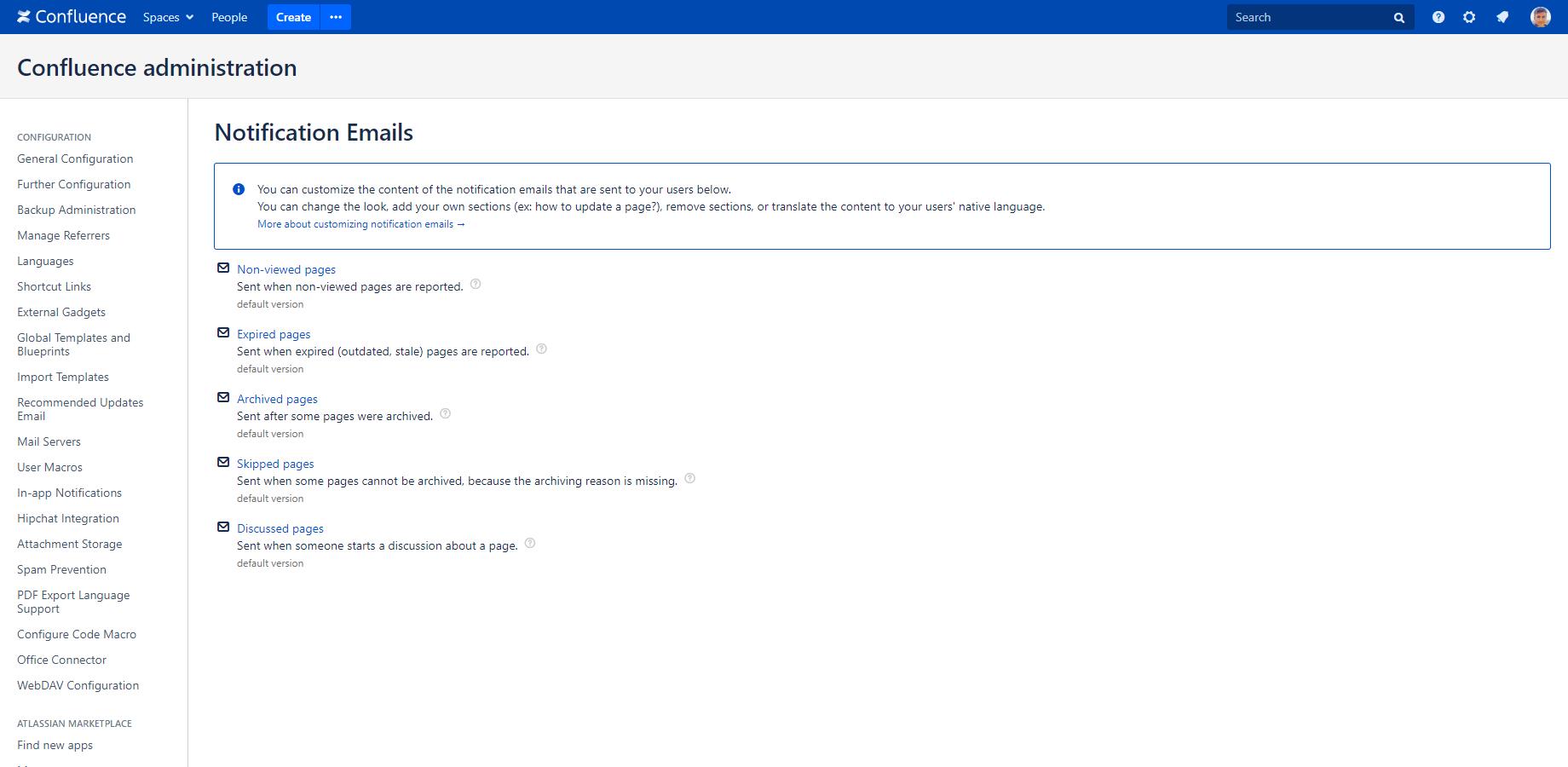 Customization - Archiving Plugin for Confluence | Midori