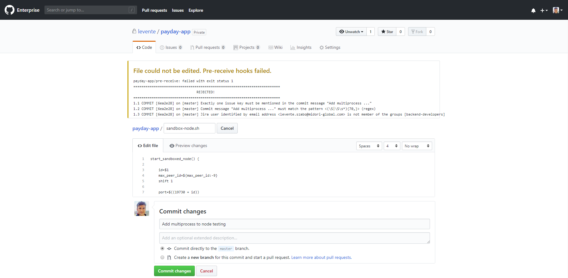 Git with GitHub Enterprise - Better Commit Policy for Jira