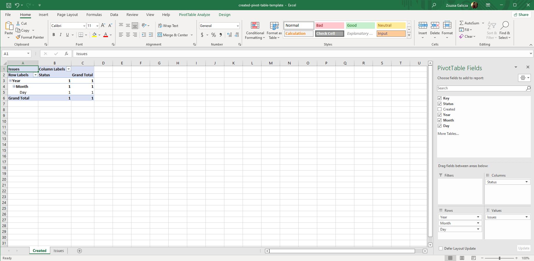 Pivot Tables - Better Excel Exporter for Jira | Midori
