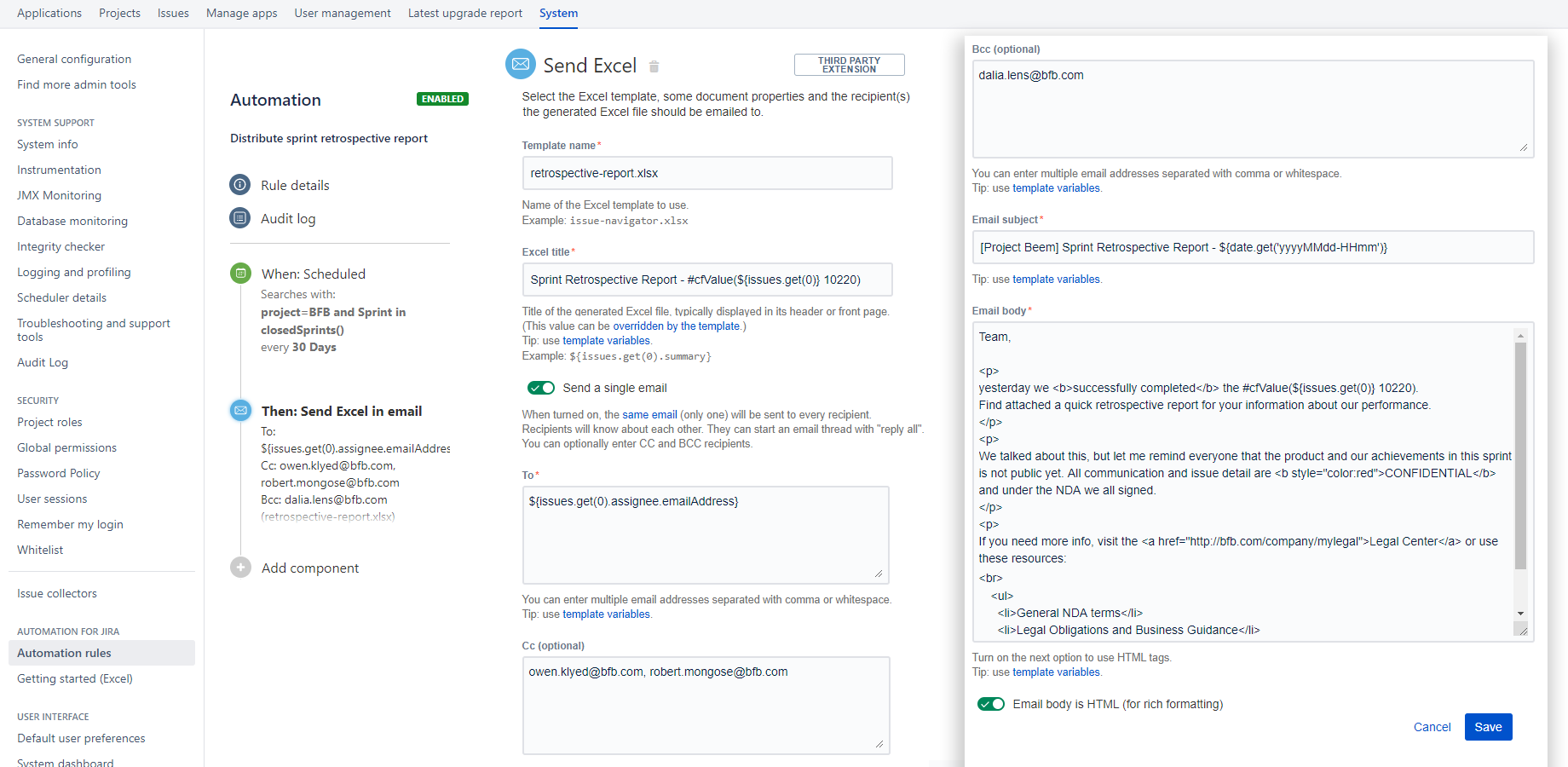 Automation Better Excel Exporter For Jira Midori